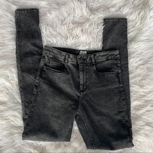ASOS black high rise jeans size 6  denim